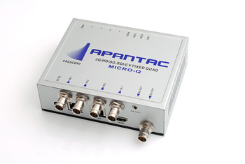 Apantac reduce price & improved features of MicroQ-S quad split.