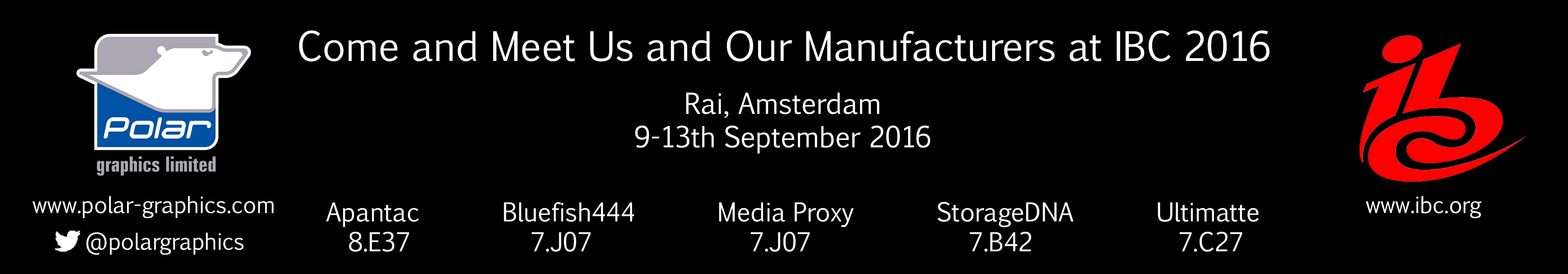 New Products for IBC Show 2016 Banner