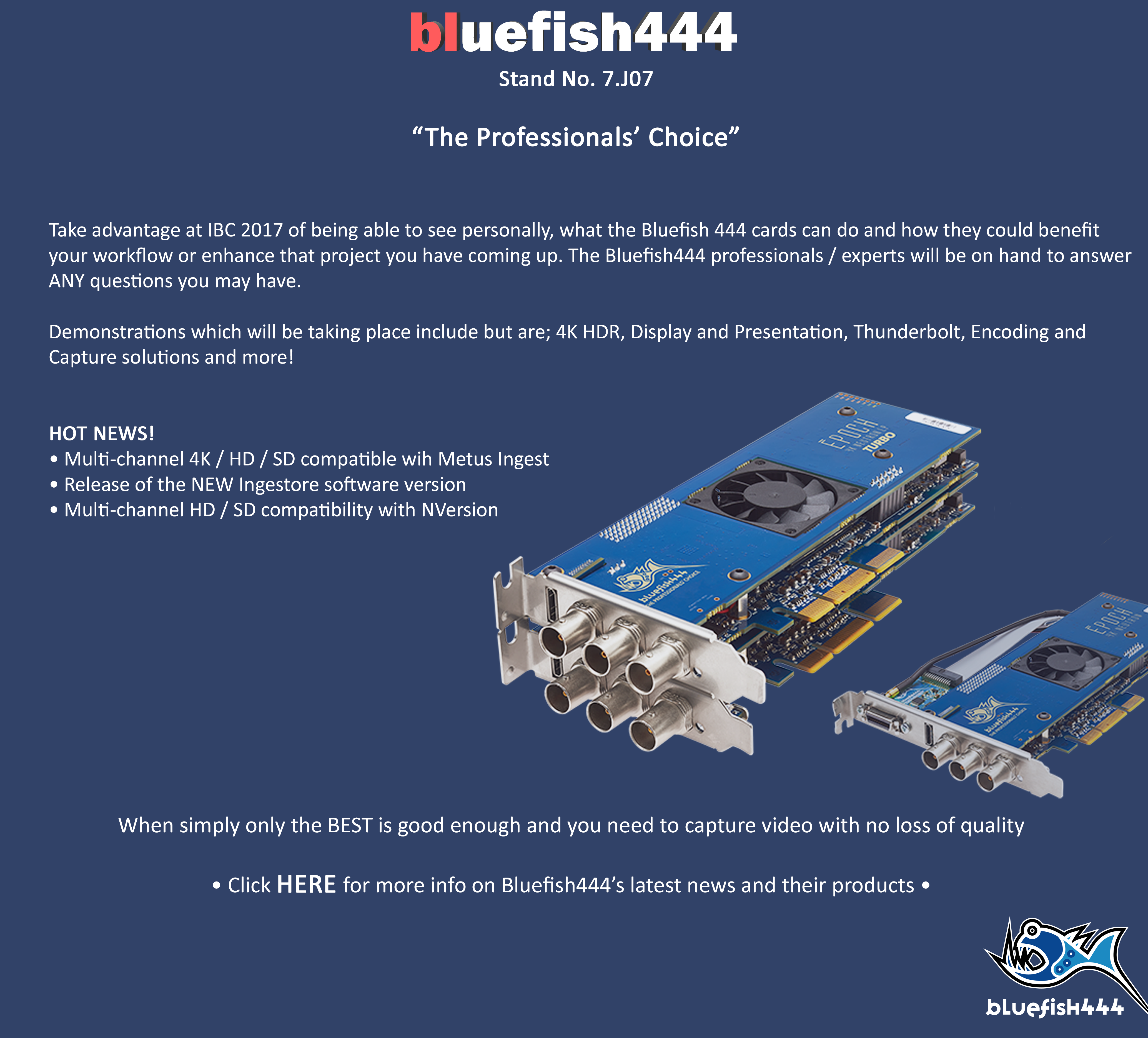What To See At IBC 2017_Bluefish444_Uncompressed SDI Video Capture Cards