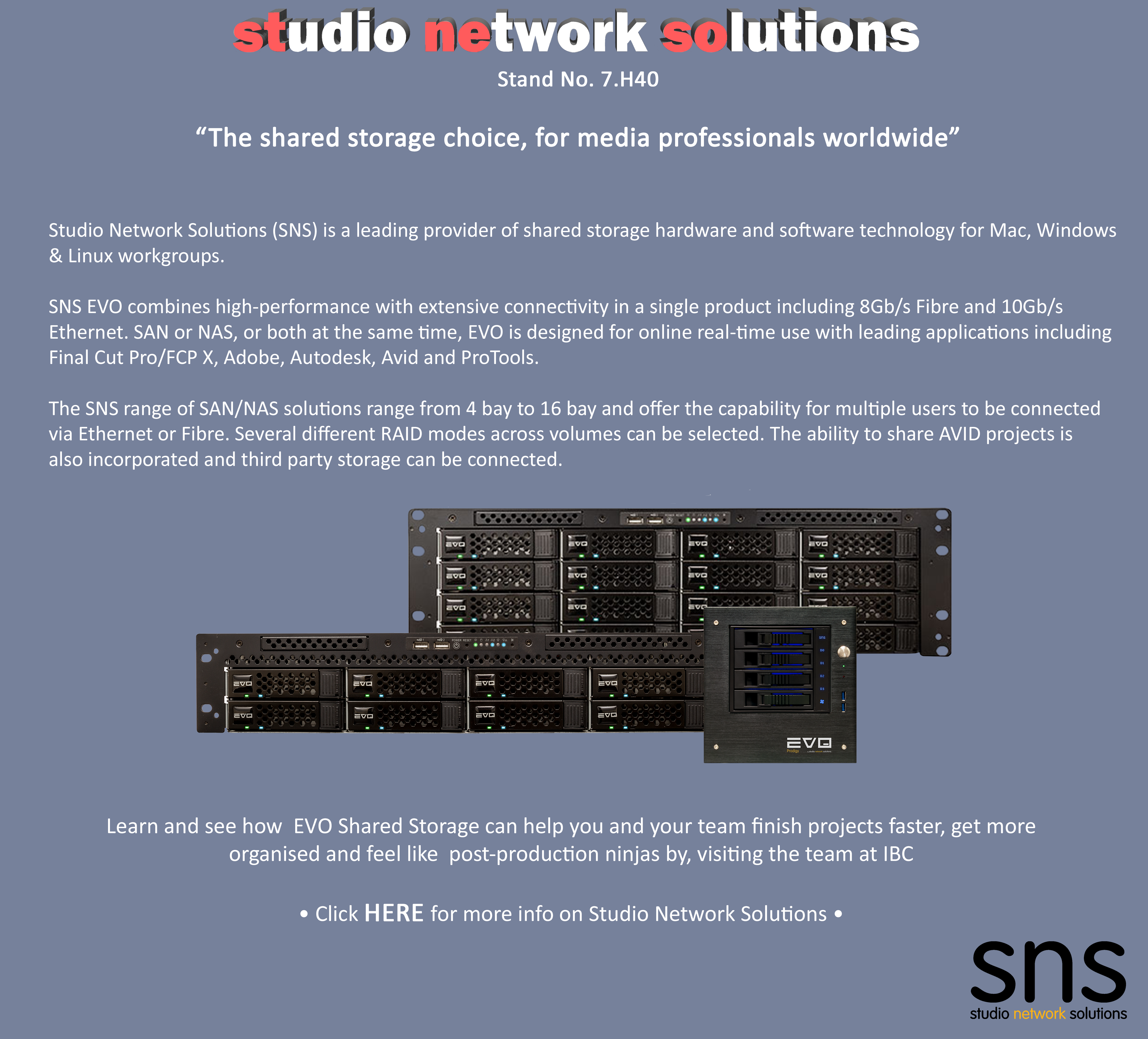 What To See At IBC 2017_Studio Network Solutions_Shared Storage Solutions