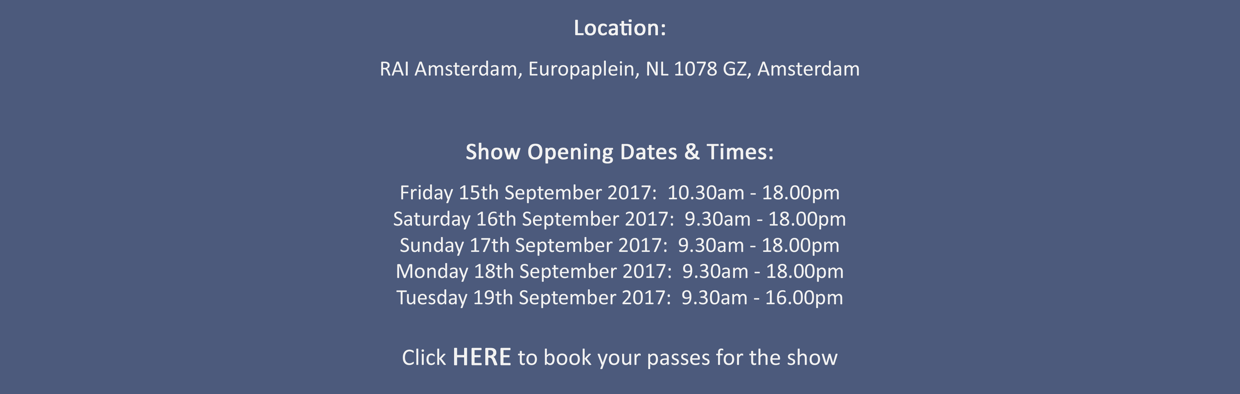 What To See At IBC 2017_Solutions For All Workflows_Date & Times