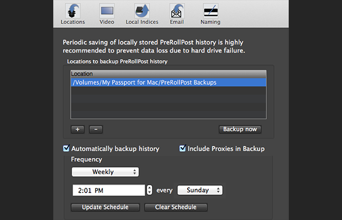 Imagine Products_PreRoll Post (Mac)_Backup DB Screenshot