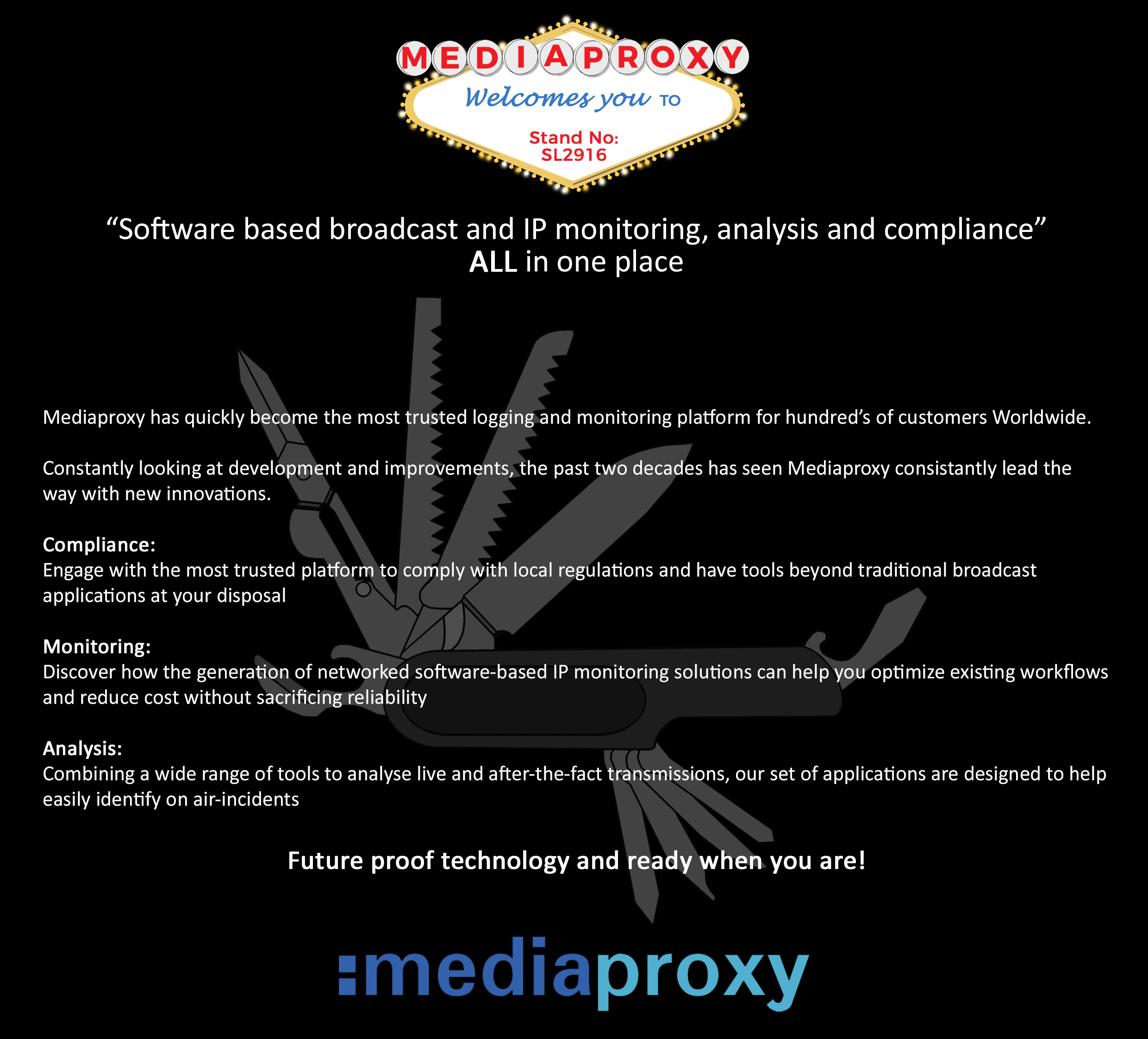 Planning Your Visit For NAB Show 2017? Don't Miss Mediaproxy, Software Based IP Solutions