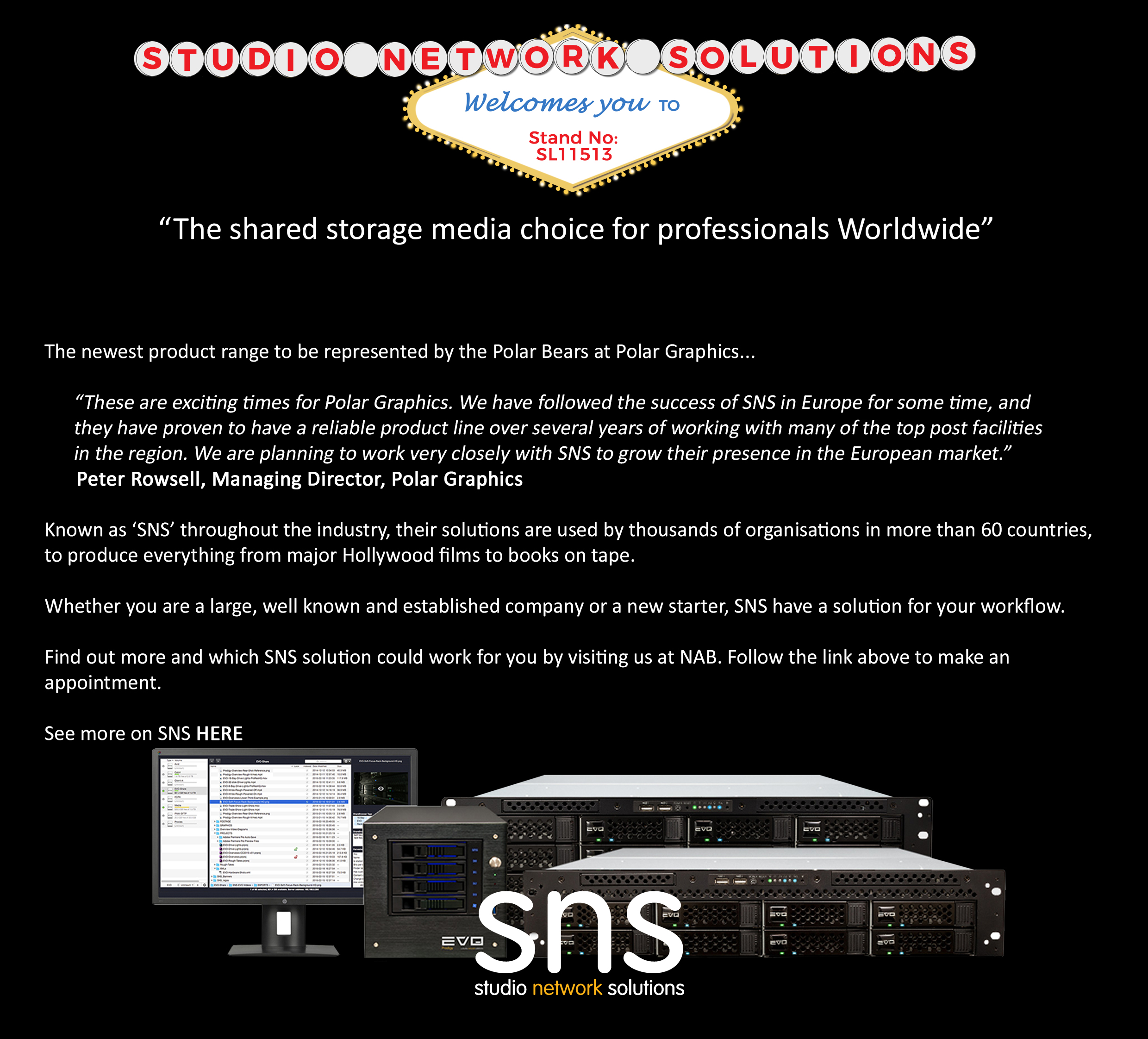 Planning Your Visit For NAB Show 2017? Don't Miss Studio Network Solutions, Shared Storage Solutions