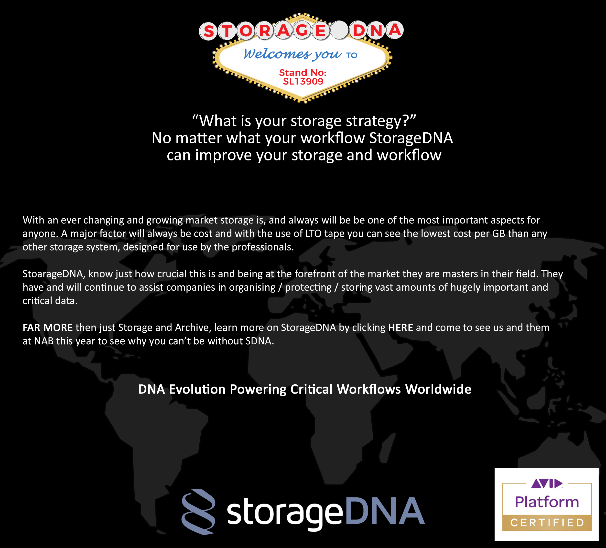 Planning Your Visit For NAB Show 2017? Don't Miss StorageDNA LTO LTFS Storage & Archive workflow solutions