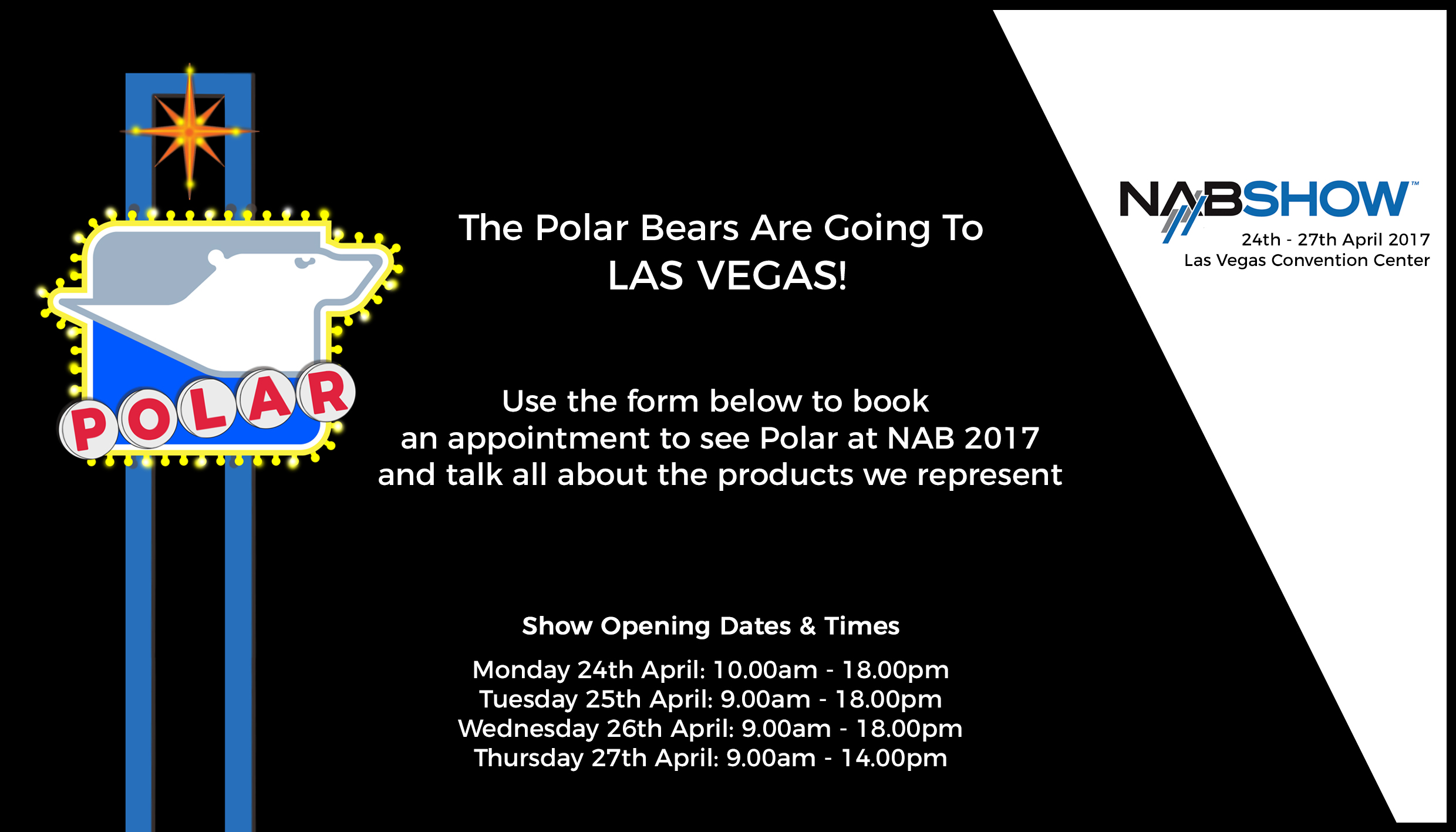 NAB 2017_Book your appointment with Polar for NAB 2017