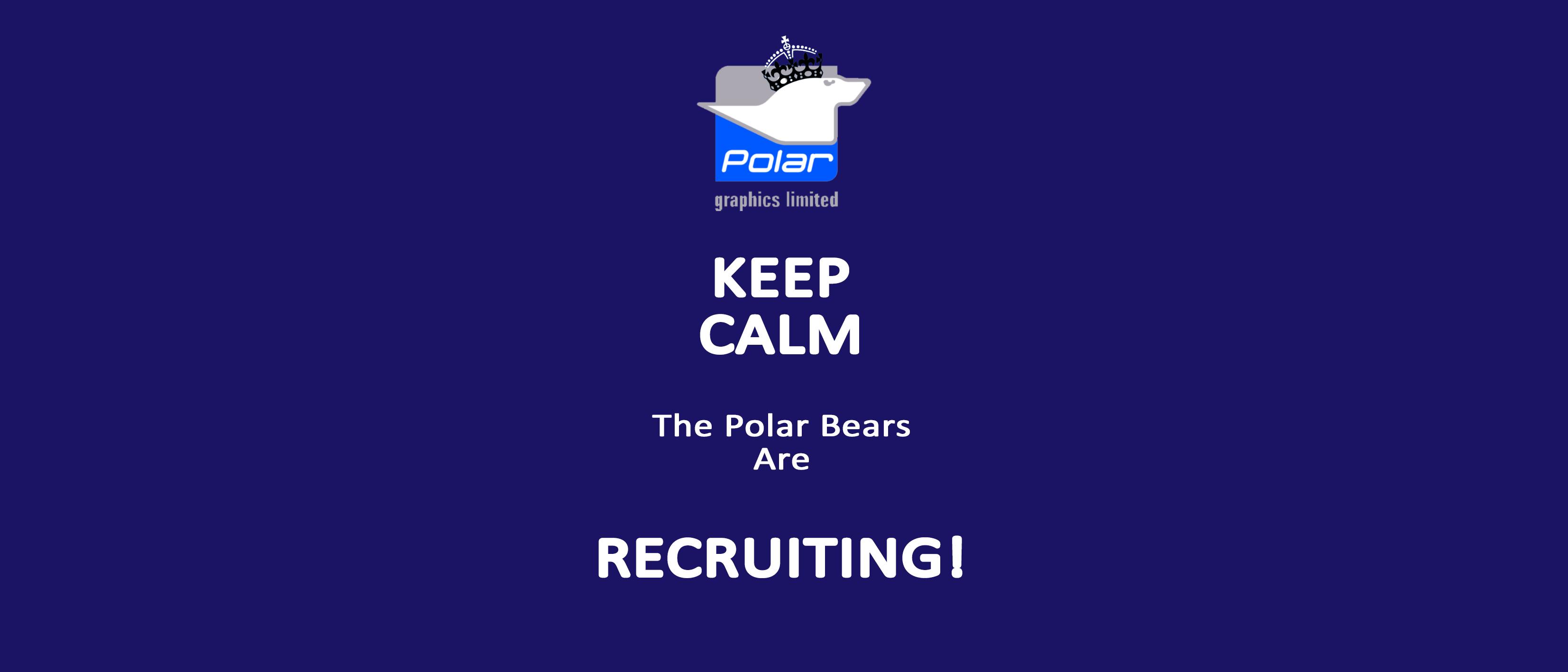 Polar Keep Calm_Polar Are Recruiting