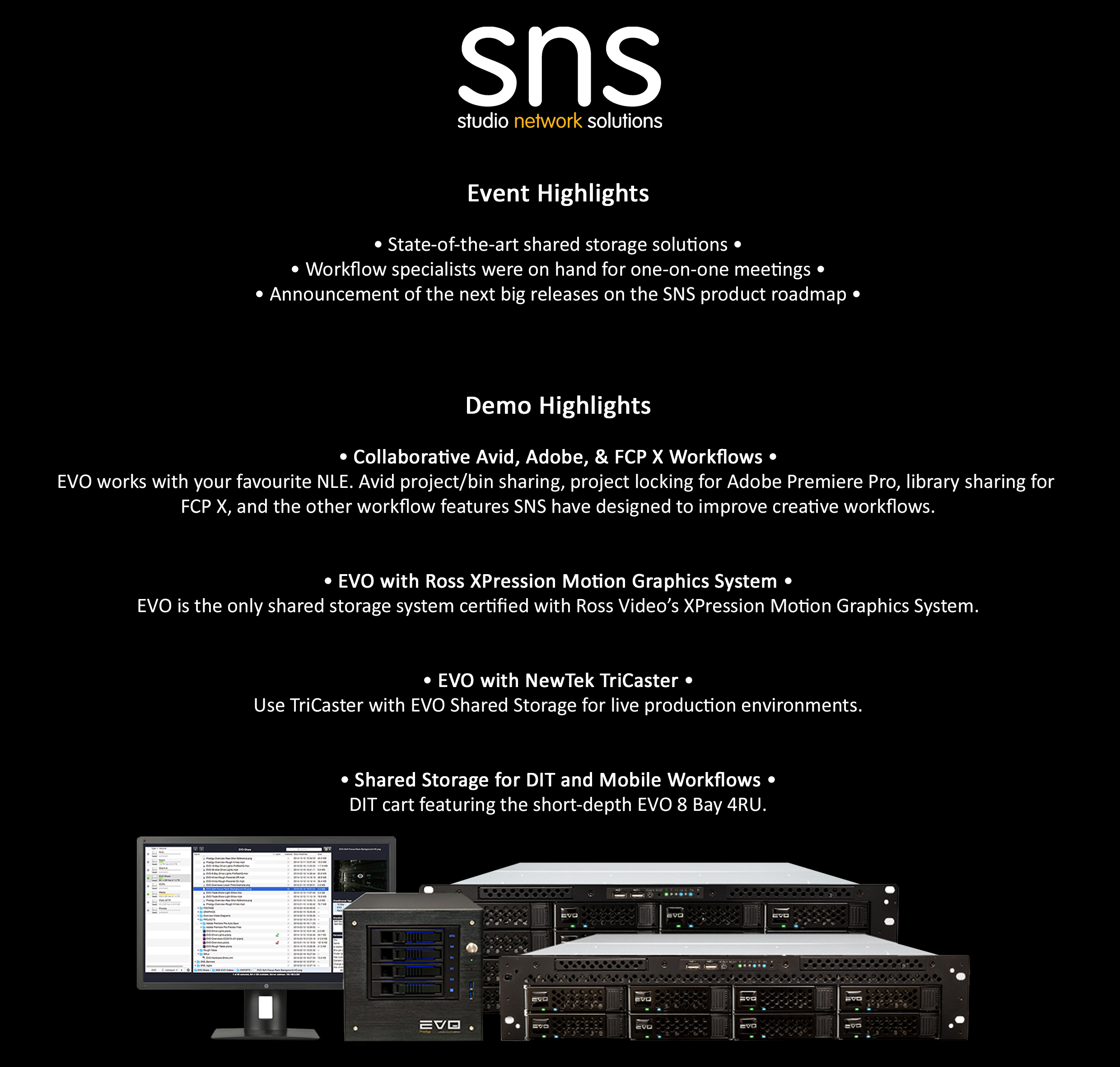 Post NAB 2017_Studio Network Solutions_Reliable Shared Storage_Event Highlights