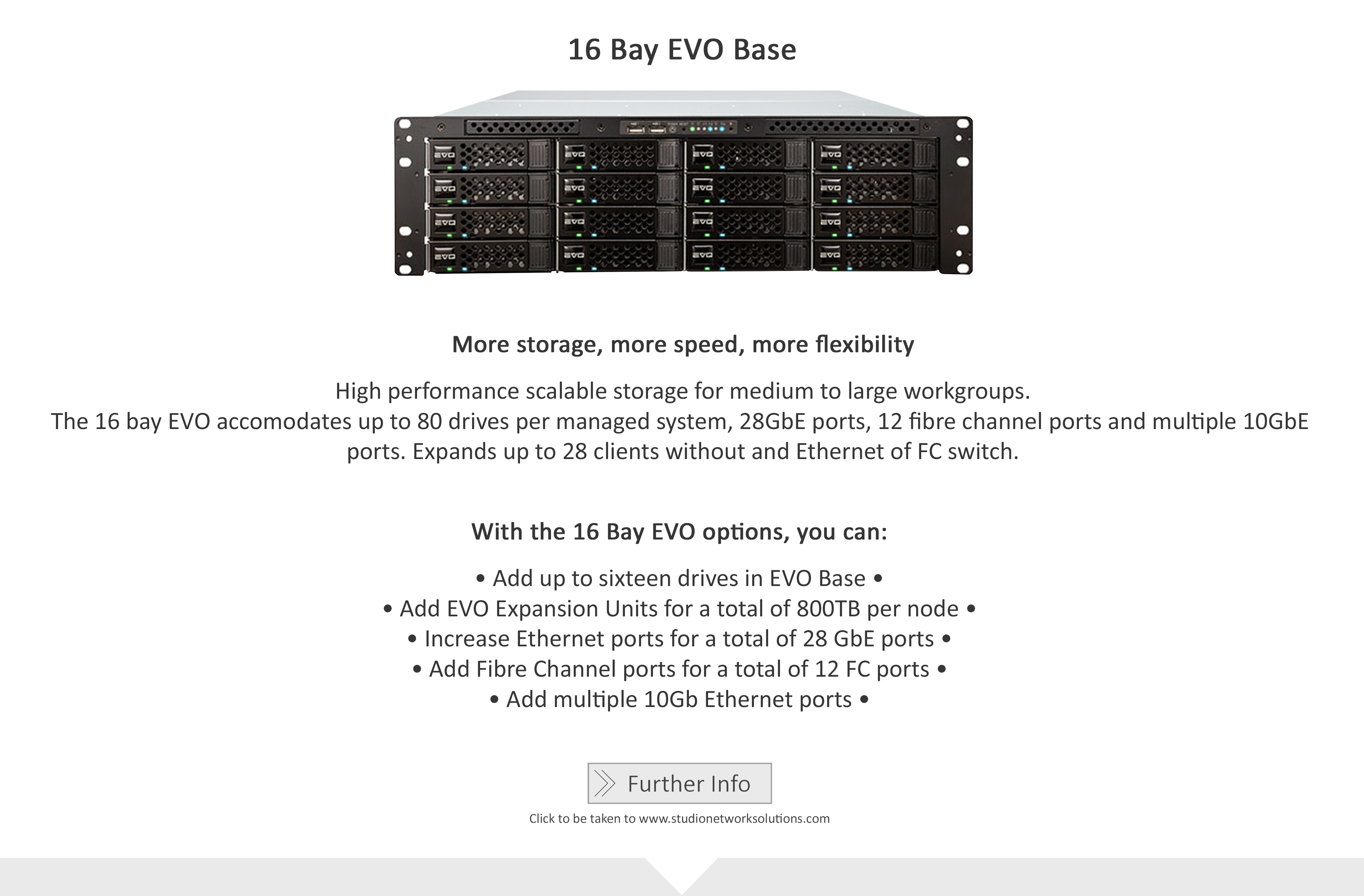Studio Network Solutions_Shared Storage Solutions_16 Bay EVO Base