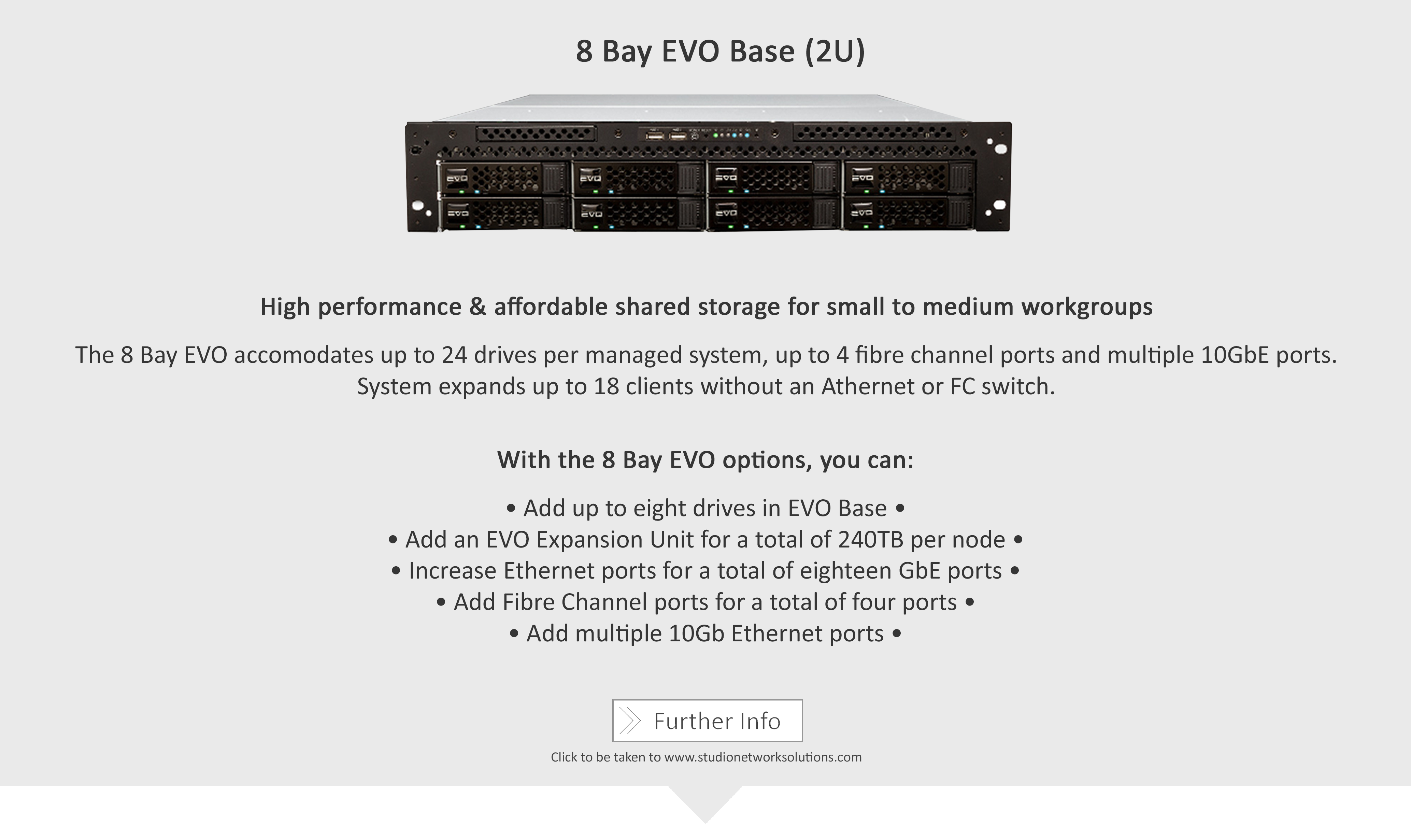 Studio Network Solutions_Shared Storage Solutions_8 Bay EVO Base (2U)