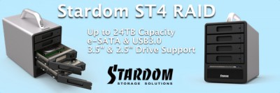 Stardom SOHOTANK ST4-SB3 RAID with support for 6TB Drives