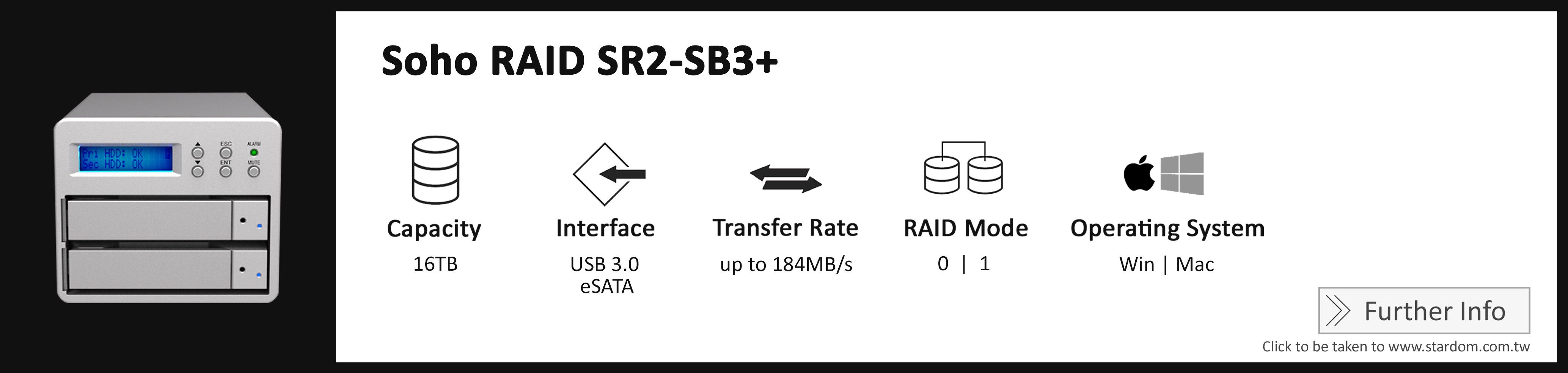 Stardom_SR2-SB3+_Cost Effective RAID Storage