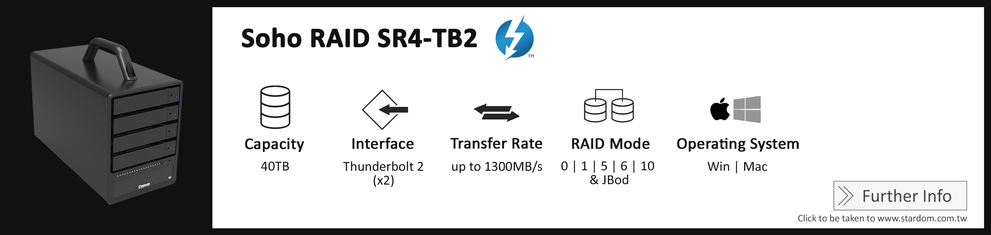 Stardom_SR4-TB2_Cost Effective RAID Storage