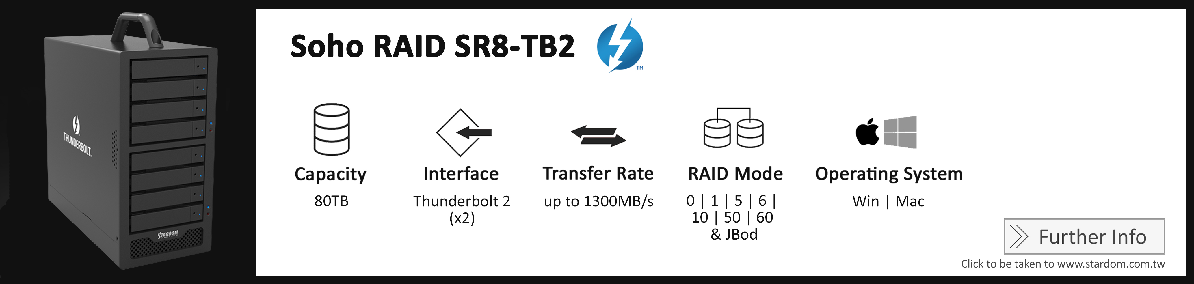 Stardom_SR8-TB2_Cost Effective RAID Storage