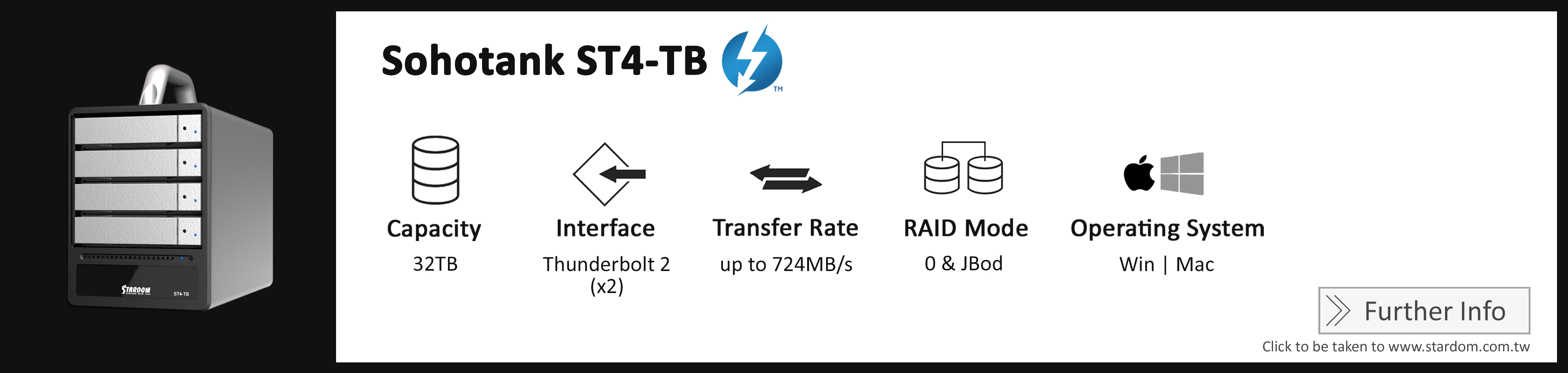 Stardom_ST4-TB_Cost Effective RAID Storage