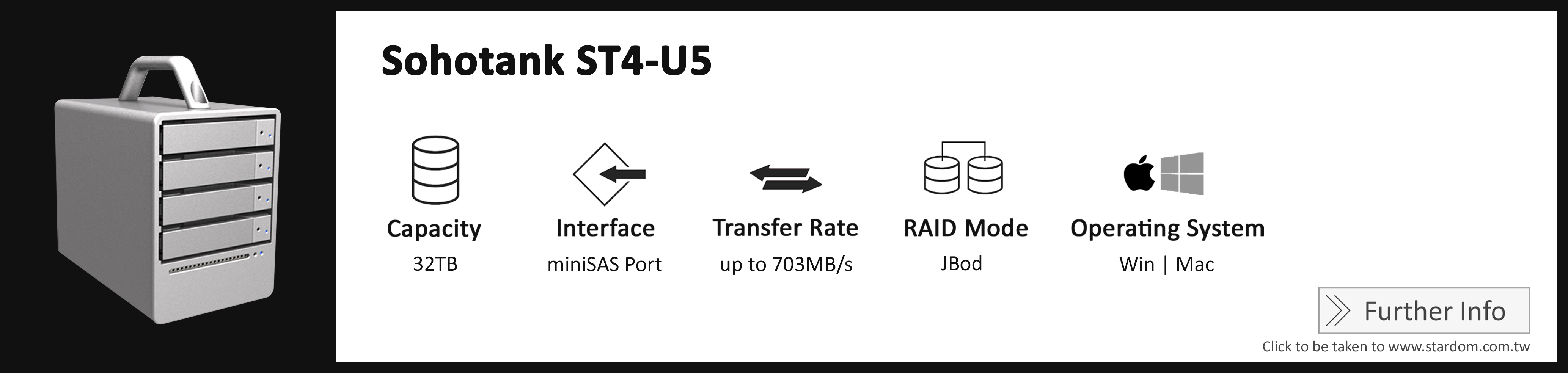 Stardom_ST4-U5_Cost Effective RAID Storage